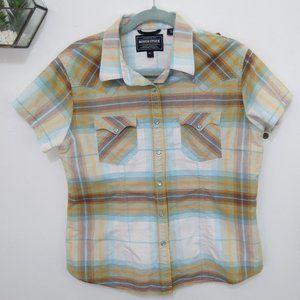 Panhandle Slim Brown Plaid Western Button Up Shirt XL